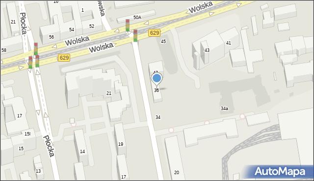Warszawa, Skierniewicka, 36, mapa Warszawy