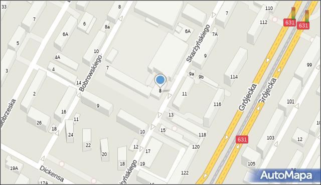 Warszawa, Skarżyńskiego Stanisława, 8, mapa Warszawy