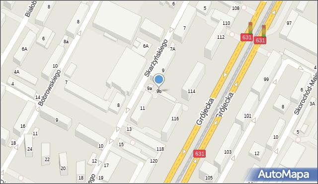 Warszawa, Skarżyńskiego Stanisława, 9b, mapa Warszawy