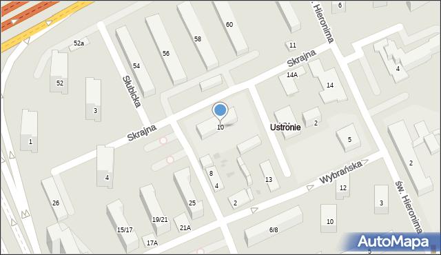 Warszawa, Skrajna, 10, mapa Warszawy