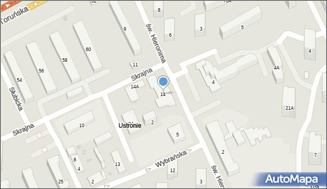 Warszawa, Skrajna, 14, mapa Warszawy
