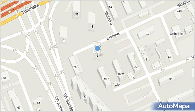Warszawa, Skrajna, 4, mapa Warszawy