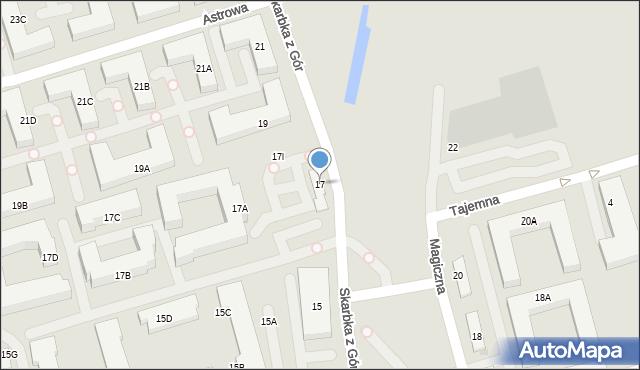 Warszawa, Skarbka z Gór, 17, mapa Warszawy