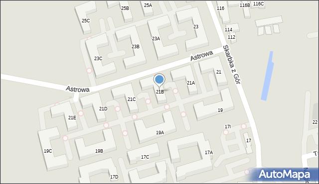 Warszawa, Skarbka z Gór, 21B, mapa Warszawy