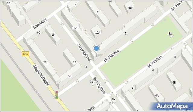Warszawa, Skoczylasa Władysława, 8, mapa Warszawy