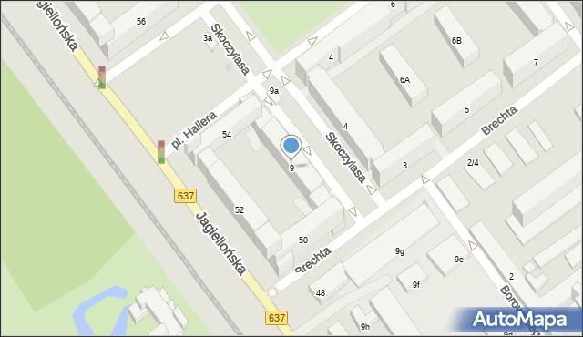 Warszawa, Skoczylasa Władysława, 9, mapa Warszawy
