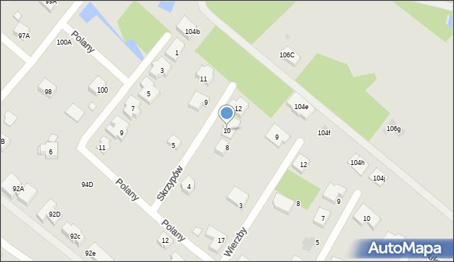 Warszawa, Skrzypów, 10, mapa Warszawy
