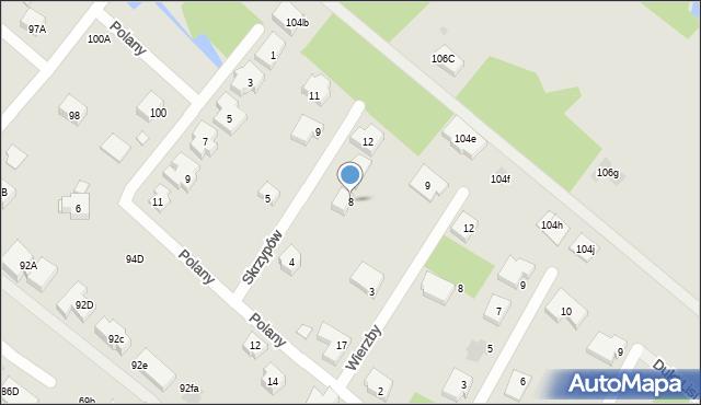 Warszawa, Skrzypów, 8, mapa Warszawy