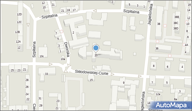 Zabrze, Skłodowskiej-Curie Marii, 10, mapa Zabrza