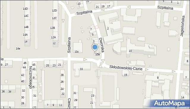 Zabrze, Skłodowskiej-Curie Marii, 10b, mapa Zabrza