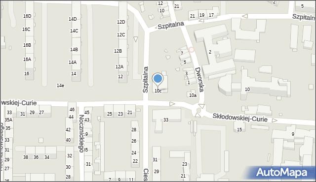 Zabrze, Skłodowskiej-Curie Marii, 10c, mapa Zabrza
