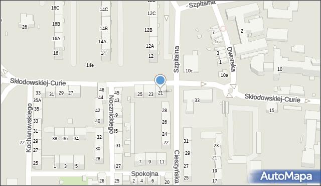 Zabrze, Skłodowskiej-Curie Marii, 21, mapa Zabrza