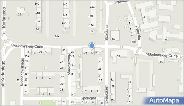 Zabrze, Skłodowskiej-Curie Marii, 23, mapa Zabrza