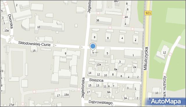 Zabrze, Skłodowskiej-Curie Marii, 7, mapa Zabrza