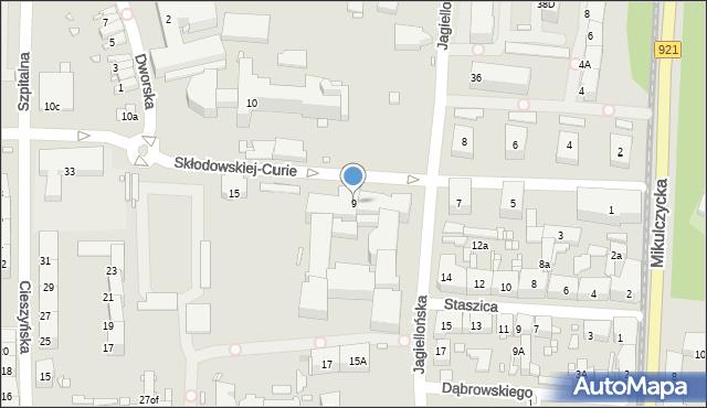 Zabrze, Skłodowskiej-Curie Marii, 9, mapa Zabrza