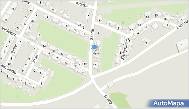 Zabrze, Skargi Piotra, ks., 10, mapa Zabrza