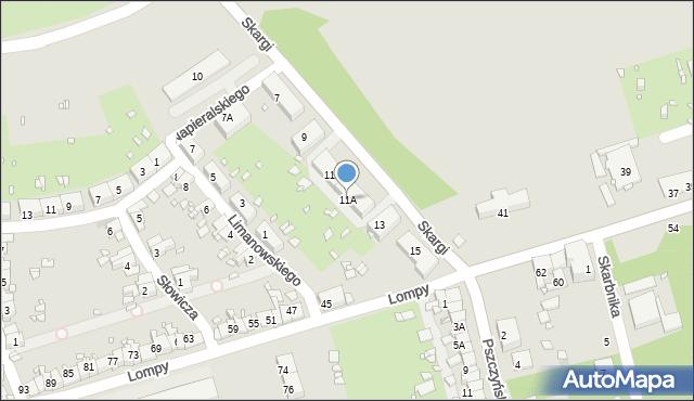 Zabrze, Skargi Piotra, ks., 11A, mapa Zabrza