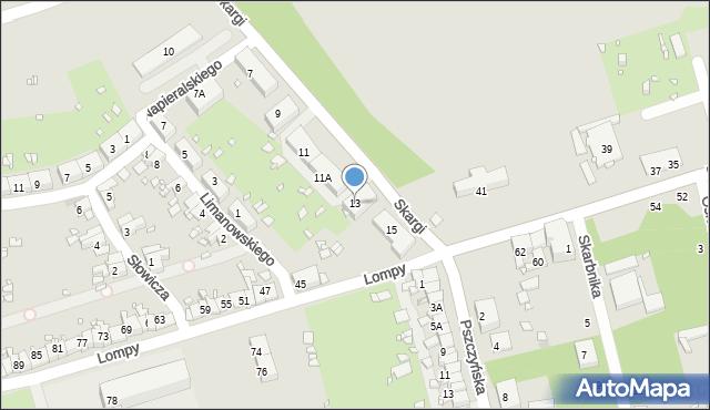 Zabrze, Skargi Piotra, ks., 13, mapa Zabrza