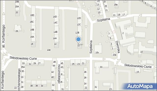 Zabrze, Skłodowskiej-Curie Marii, 12, mapa Zabrza