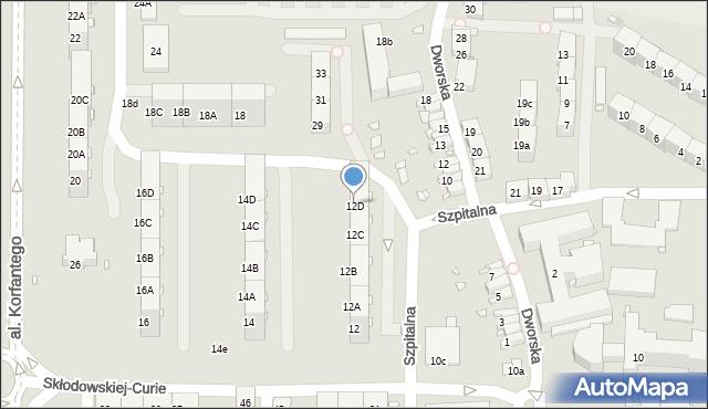 Zabrze, Skłodowskiej-Curie Marii, 12D, mapa Zabrza