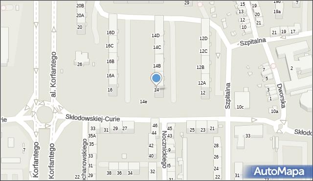 Zabrze, Skłodowskiej-Curie Marii, 14, mapa Zabrza