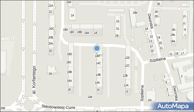Zabrze, Skłodowskiej-Curie Marii, 14D, mapa Zabrza