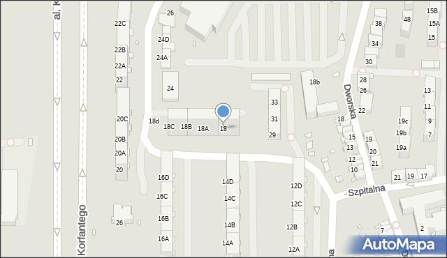 Zabrze, Skłodowskiej-Curie Marii, 18, mapa Zabrza