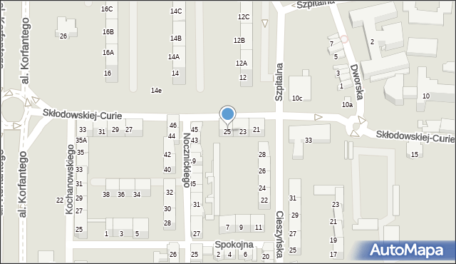 Zabrze, Skłodowskiej-Curie Marii, 25, mapa Zabrza
