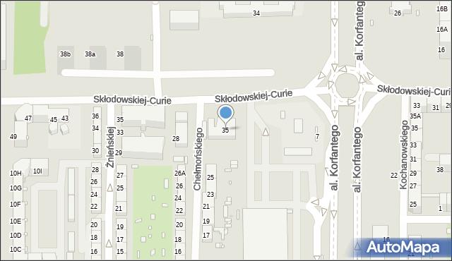 Zabrze, Skłodowskiej-Curie Marii, 35, mapa Zabrza