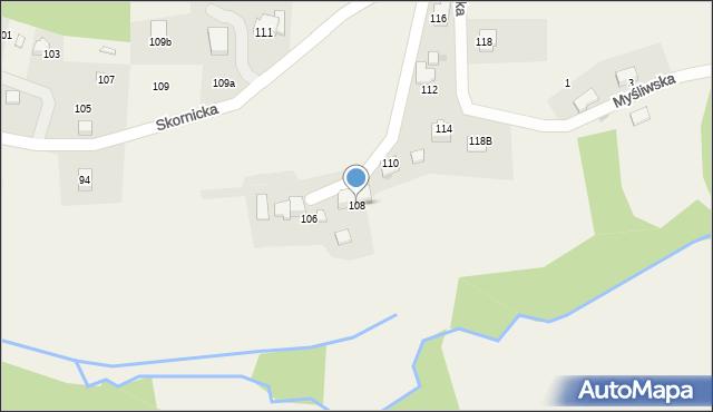 Zagórnik, Skornicka, 108, mapa Zagórnik