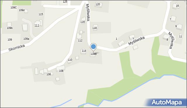 Zagórnik, Skornicka, 118B, mapa Zagórnik
