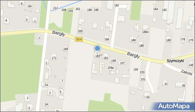 Bargły, Śląska, 163, mapa Bargły