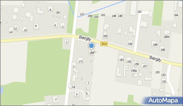 Bargły, Śląska, 169, mapa Bargły