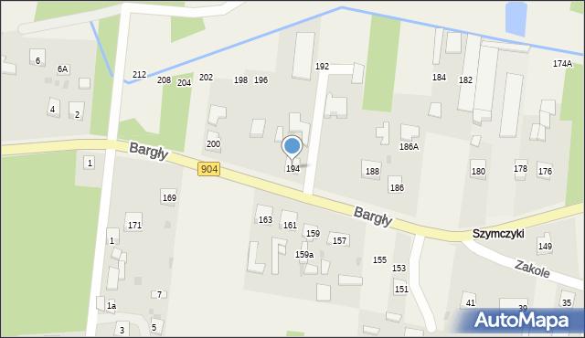 Bargły, Śląska, 194, mapa Bargły