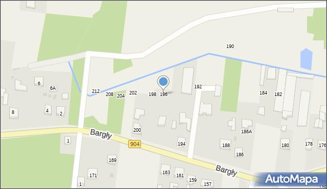 Bargły, Śląska, 196, mapa Bargły