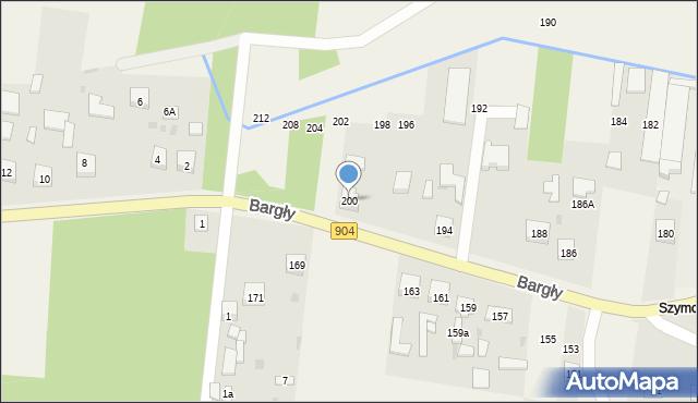 Bargły, Śląska, 200, mapa Bargły
