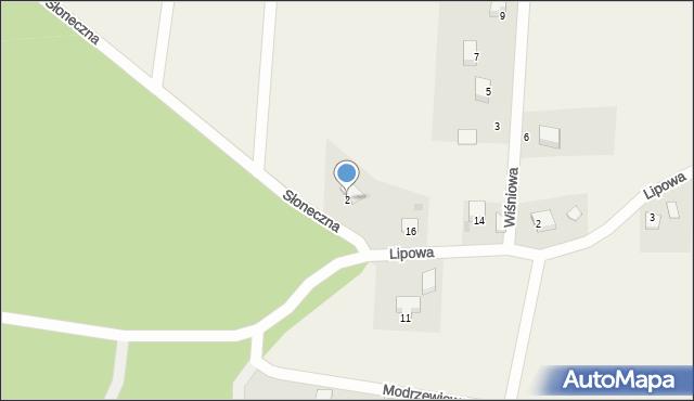 Barłomino, Słoneczna, 2, mapa Barłomino