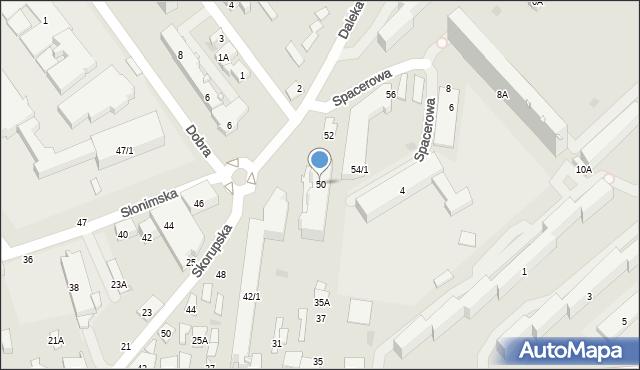 Białystok, Słonimska, 50, mapa Białegostoku