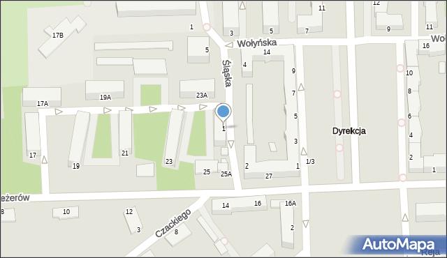 Chełm, Śląska, 1, mapa Chełma