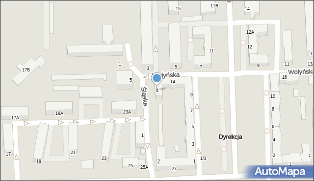 Chełm, Śląska, 4, mapa Chełma