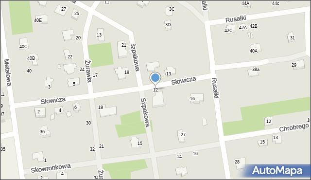 Chełm, Słowicza, 12, mapa Chełma
