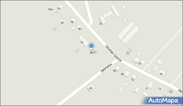 Ciechocinek, Słońsk Górny, 64, mapa Ciechocinek