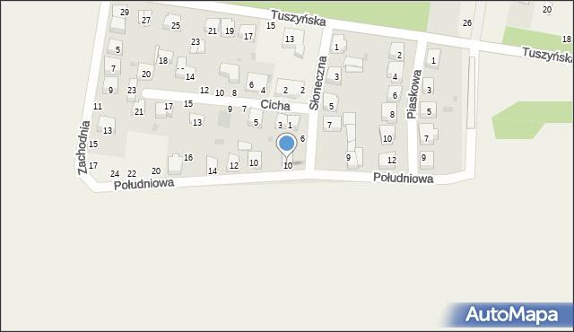 Czarnocin, Słoneczna, 10, mapa Czarnocin