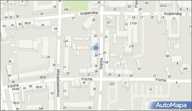 Częstochowa, Śląska, 24, mapa Częstochowy