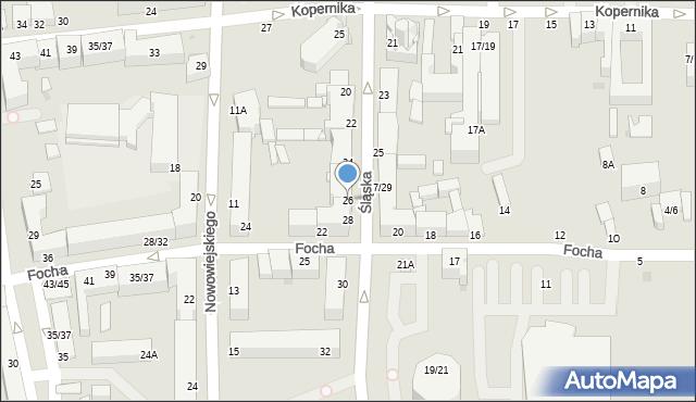 Częstochowa, Śląska, 26, mapa Częstochowy