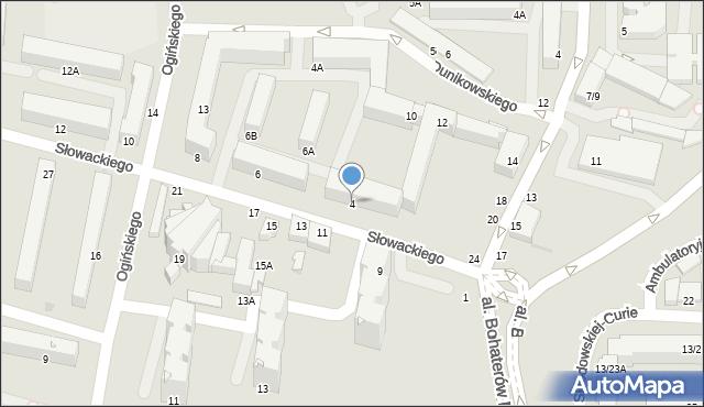 Częstochowa, Słowackiego Juliusza, 4, mapa Częstochowy
