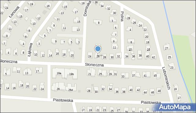 Dobczyce, Słoneczna, 26, mapa Dobczyce
