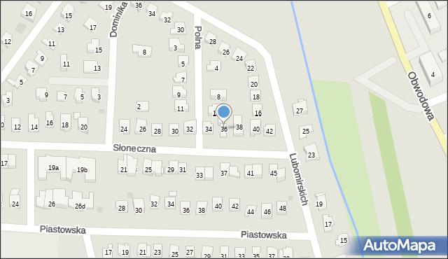 Dobczyce, Słoneczna, 36, mapa Dobczyce