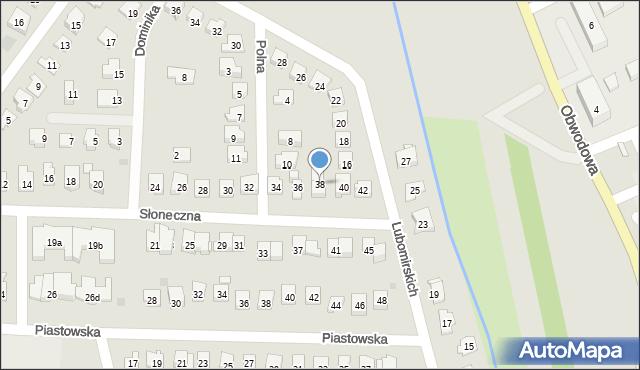 Dobczyce, Słoneczna, 38, mapa Dobczyce