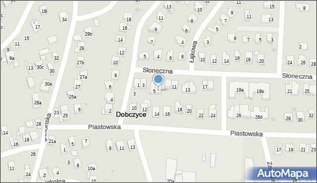Dobczyce, Słoneczna, 7, mapa Dobczyce